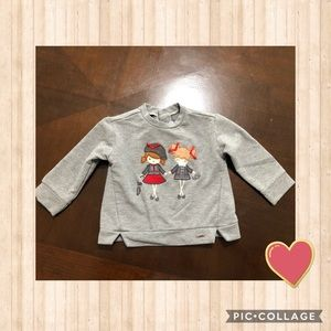 Host Pick!! Mayoral Girls Gray Fashion Top 6 Month